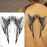 adgkitb 3pcs Orologio Horror Corvo Nuvole Scure Piramide Scorpione Tatuaggi temporanei Scorpione Tatuaggio Design per Uomo Donna Tatuaggio Bussola Stile TH337 21x15 cm