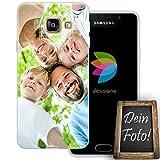dessana Eigenes Foto transparente Schutzhülle Handy Tasche Case für Samsung Galaxy A3 (2016)