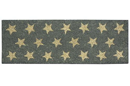 Felpudos Elegantes color gris con estrellas, 26x 75cm