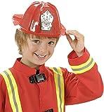 Cappello pompiere in pvc Taglia unica Bambino