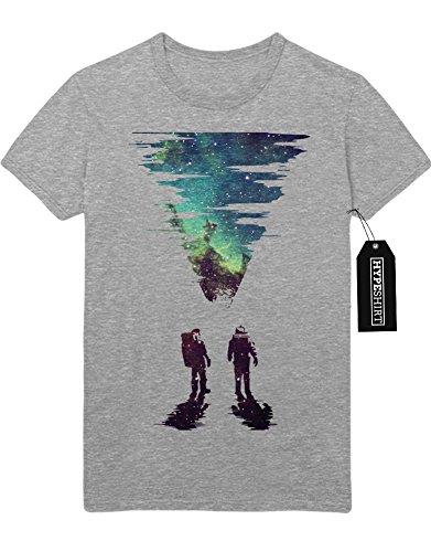 T-Shirt Interstellar Galaxy Astronaut Space Hipster Dreieck Triangle Noir Nebula Sterne H970010 Grau (Space Nebula Kostüm)