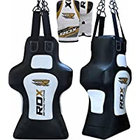 RDX Boxeo Piel bolsas Boxeo tronco fittizio MMA Pieno Saco Terra Base Entrenamiento