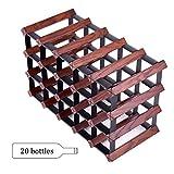 Weinregale Große Countertop Holz Unter Kabinett-Ecke Countertop Speicher-Anzeigen-Verzierungs-Stand-Küchen-Stab-Haus (größe : 20 Bottles)
