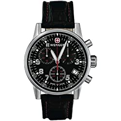 Wenger 'Commando' Chronograph Black Big Crown Watch