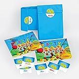 10 Einladungskarten incl. Umschläge, Tüten, Aufkleber zum Kindergeburtstag Schwimmbad Partyfür Mädchen und Jungen bunte Einladungen (10 Karten + 10 Umschläge + 10 Party-Tüten + 10 Aufkleber)