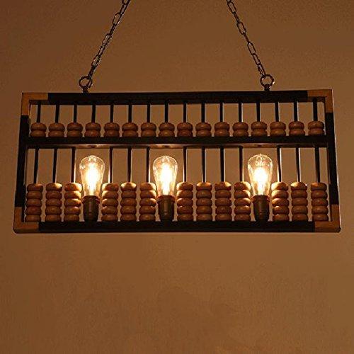 Esszimmer Sammlung Sammlung (Holz- Lampe, Industrial Wind Warabunka Front Stage Sammlung Haus Esszimmer Hängen Licht)