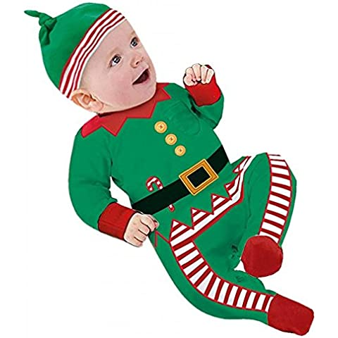 hibote Navidad Bebé de Santa Unisex baby Disfraces Niños de Navidad Conjunto de manga larga Romper