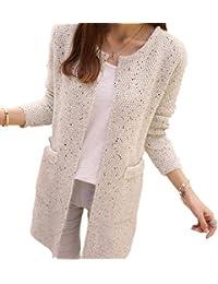 FEITONG Otoño invierno Las mujeres de algodón torsión elástica De punto Jerseys de manga larga