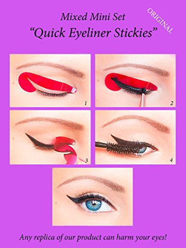 ORIGINAL Quick Eyeliner Stickies MIXED SET 32 pcs. Pochoirs de maquillage pour les yeux