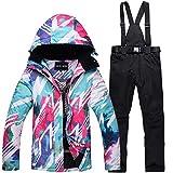 Goodluckshop Damen Skianzüge Skijacke Winter Wasserdicht Bergsportanzüge Jacken Skikleidung