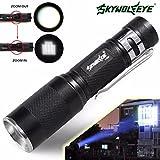 HCFKJ 4000Lm Zoomable Cree Xm-L Q5 Led Flashlight 3 Mode Torch Super Bright Light Lamp
