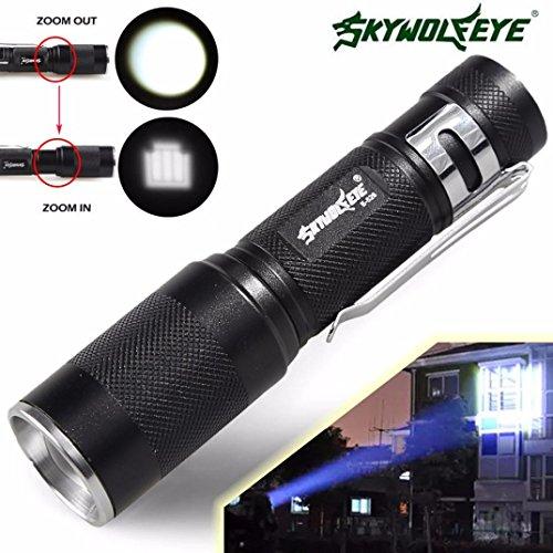 HCFKJ 4000Lm Zoomable Cree Xm-L Q5 Led Flashlight 3 Mode Torch Super Bright Light Lamp -