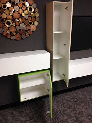 Hänge-Element 1-türig Box, 139 x 29 x 31 cm, weiß hochglanz - 3