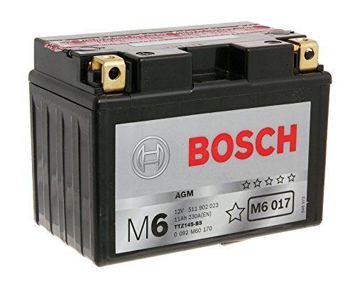 Bosch TTZ14S 12Volt Batteria per KTM ADVENTURE/S 950, Super Moto 950, Adventure/S 990(Incluso 7,50& # x20AC; batterie pfand)