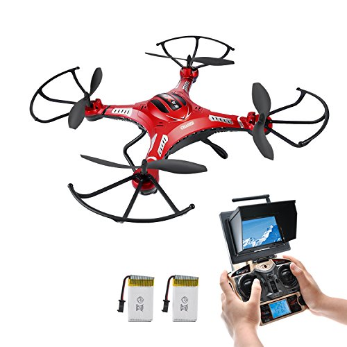 NEW FEATURE - HOVER DRONE, Potensic® 5.8GHz FPV Monitor 4CH 6-Axis Gyro...