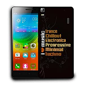Snoogg I Love Music Designer Protective Back Case Cover For LENOVO A7000 / K3 NOTE