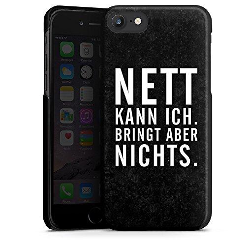 Apple iPhone X Silikon Hülle Case Schutzhülle Nett Leben Humor Hard Case schwarz