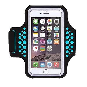 """Bracciale sportivo resistente all'acqua con chiave, soldi, supporto per carta di credito per iPhone 7/7 Plus/6/6S Plus, Galaxy s8/s7/s6 Edge o smartphone fino a 5.7"""" 1 spesavip"""