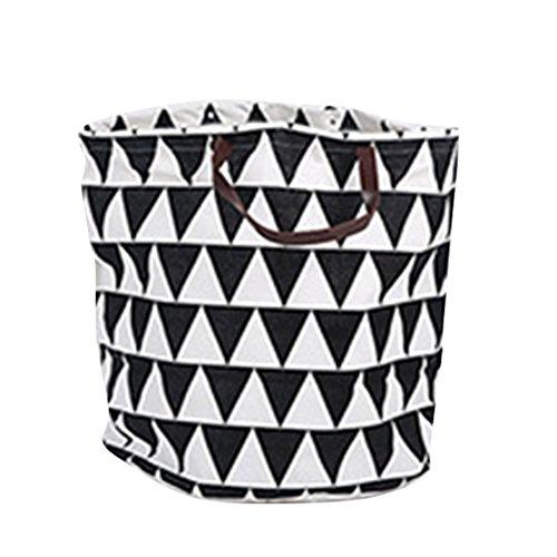SYGoodBUY Canvas Aufbewahrungsbehälter Körbe Kinder Spielzeugaufbewahrung Beutel, Haushaltsartikel Organizer Lagerung Segeltuch Speicher Tasche (Farbe : Schwarz, Größe : Einheitsgröße) (Schwarz-speicher-körbe)