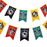 TianLinPT Harry Potter Gryffindor / Slytherin / Hufflepuff / Ravenclaw / Hogwarts Wand Banner Haus Fahnen Wand-Dekoration für Bar, Club, Wohnzimmer, Schlafzimmer, Party (3m)