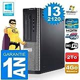 PC Dell 390 DT Core I3-2120 RAM 4GB Scheibe 2 zu Wifi W7