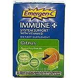 Alacer Boisson en poudre Emergen-C Immune + - Sachet de 1000 mg de vitamine C, vitamine D, multi vitamines et compléments...