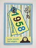 5x Fröhliche Einladungskarten zum 60. Geburtstag *1958*Handmade*