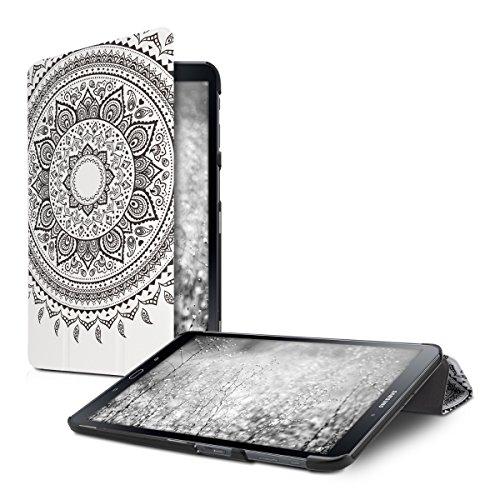 Preisvergleich Produktbild kwmobile Hülle für Samsung Galaxy Tab A 10.1 (2016) T580N / T585N - Smart Cover Case Tablet Schutzhülle Kunstleder - Ultra Slim Tabletcase Indische Sonne Design Schwarz Weiß