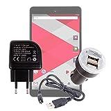 Duragadget Kit de Charge 3 en 1 pour CDISPLAY Tablette Tactile 8'' Full HD par Cdiscount et Haier (Sortie 2016) - Chargeur...