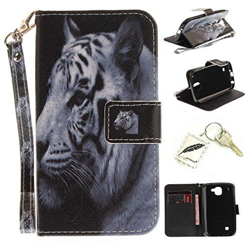 Preisvergleich Produktbild Silikonsoftshell PU Hülle für LG K3 (2017) (4.5 Zoll) Tasche Schutz Hülle Case Cover Etui Strass Schutz schutzhülle Bumper Schale Silicone case+Exquisite key chain X1#KE (9)