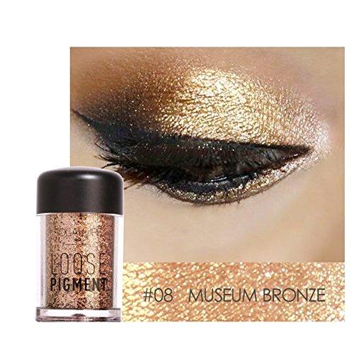 H.Yue 12Colours Glow Eye Shadow Beauty Eyes Lips Loose Powder Pigments Makeup Cosmetics #8 - Eye Shadow 4 Loose Powder