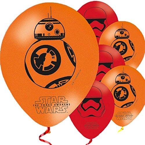 Party Palast - Jungen Party Deko Ballon Star Wars 8 Stück, Mehrfarbig