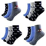 12 Paar Kids Socks Jungen Socken Kinder Strümpfe 85% Baumwolle A.S-100 Gr. 23-38 Verschiedene Farben (23-26)