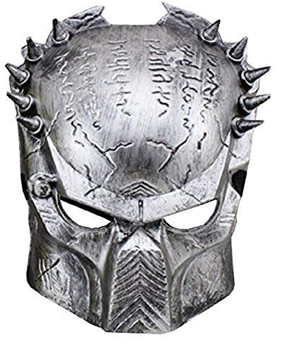 Inception Pro Infinite Maske - Karneval - Halloween - Alien vs Predator - Silberfarbe - Mann - (Animierte Halloween)