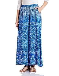 global desi Womens Flared Pallazo Pants (X24964-PLZ-500_Blue_M)