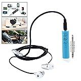 teepao Mini Bluetooth Transmitter 3,5mm, Bluetooth Empfänger-Adapter, Bluetooth 4.1Portable Freisprechanlage Auto Kits Audio-Adapter integrierte Mikrofon für Audio-Stereo-System Kopfhörer Lautsprecher blau