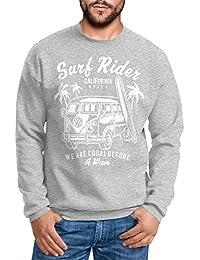 41ff71626b26 Herren Sweatshirt Bus Bulli Surfing Retro Samba T1 T2 T3 Surf Rider Pullover  für…