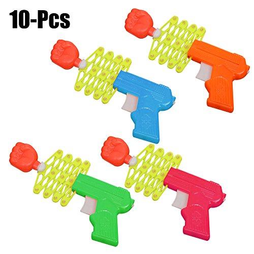 Funpa 10 StüCke Kinder Spielzeug, Kunststoff Pistole Spielzeug Kreative Magie Retractable Faust Shooter Kinder Lustige Spielzeug Heikles Spielzeug FüR Fools Day Suppiles (ZufäLlige Farbe)