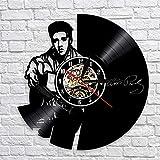 AIYOUBU Disque Vinyle Horloge Murale Design Moderne Musique Thème À Suspendre Le...