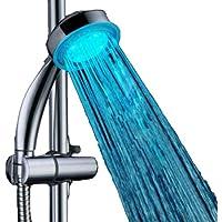 Fuloon-Pommeau de douche tendance à la température de couleur Led Lumière Embout Robinet D'eau alimenté Par