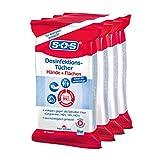 SOS Desinfektionstücher (4x25 Tücher) - zur Desinfektion von Händen, Haut und Flächen
