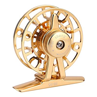 Fly Fishing Reel, CNC-machined Aluminum Alloy Body and Spool Accessories by VGEBY