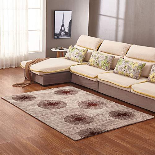 MAGE Rug Antistatische Runde Spore Striped Teppich Für Wohnzimmer, Modern Impressionist Blended-Stoff Waschbar Dicker Teppich Non-Slip Tufted, Brown,200Cm×300Cm