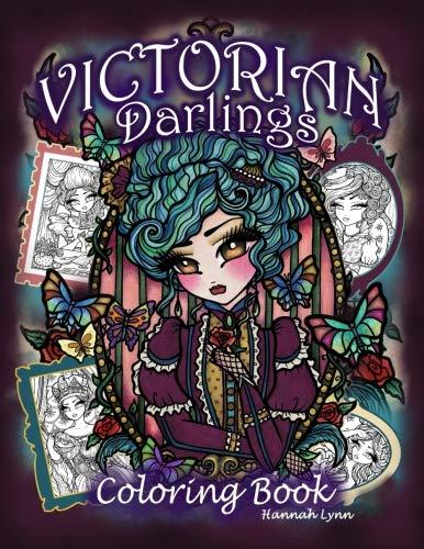 PDF Read Victorian Darlings Coloring Book EPUB BOOK BY Hannah Lynn