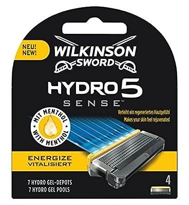 Wilkinson Sword Hydro 5 Sense Energize Men's Razor Blades X 4