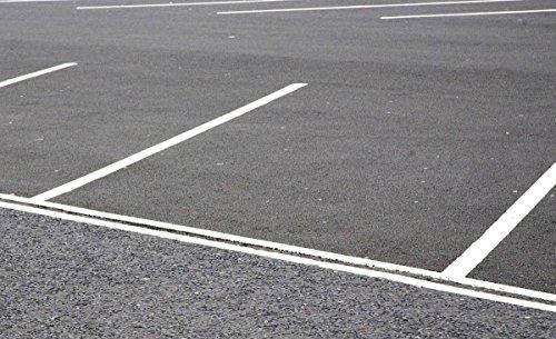Fahrbahnmarkierung seidenmatt in verschiedenen Farben für Bitumen, Asphalt, Beton, Zement | BEKATEQ BE-820 Straßenmarkierungsfarbe Markierung von Straßen, Parkplätzen, Einfahrten Bitumenanstrich Parkplatzmarkierung Farbe (5L, Weiß)