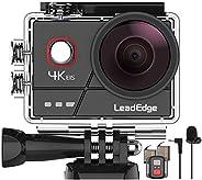 LeadEdge A20 Action Cam4K 20MPEISAnti-Shake Microfono EsternoWiFi 2.0IPSLCDLente Grandangolare di 170