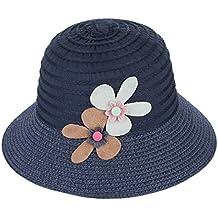EOZY Sombrero para Niña de Paja Flor Princesa Verano Playa bc450f579f7