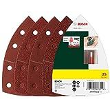 Bosch 2607017112 Schuurbladset, 25-Delig, Rood