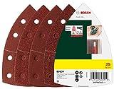 Bosch 2607017112 Set de 25 abrasifs pour Ponceuse multi 102 x 62 x 93 mm Grains...